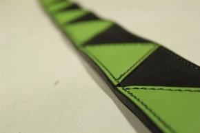 グリーン&ブラックコンビ・レザーギターストラップ